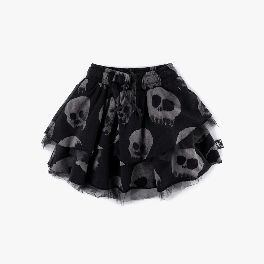 Layered water skull skirt (Kids)