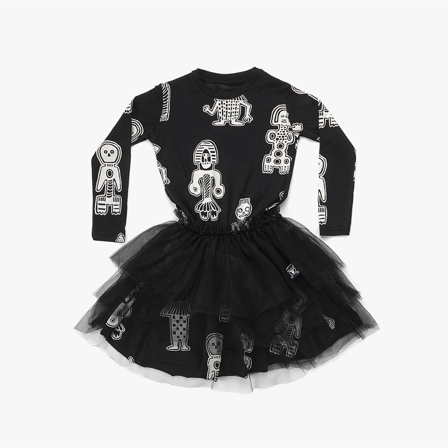 All over tribal dancers tulle dress (Kids)