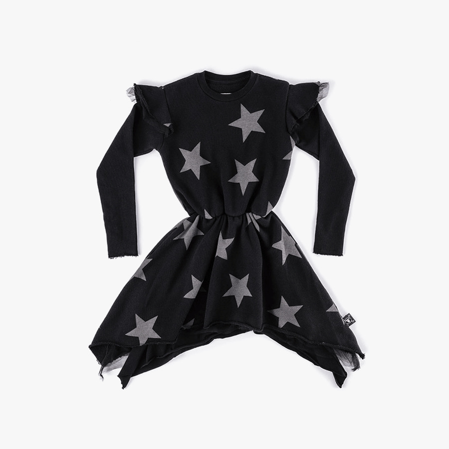 Ruffled sleeve star dress (Kids)