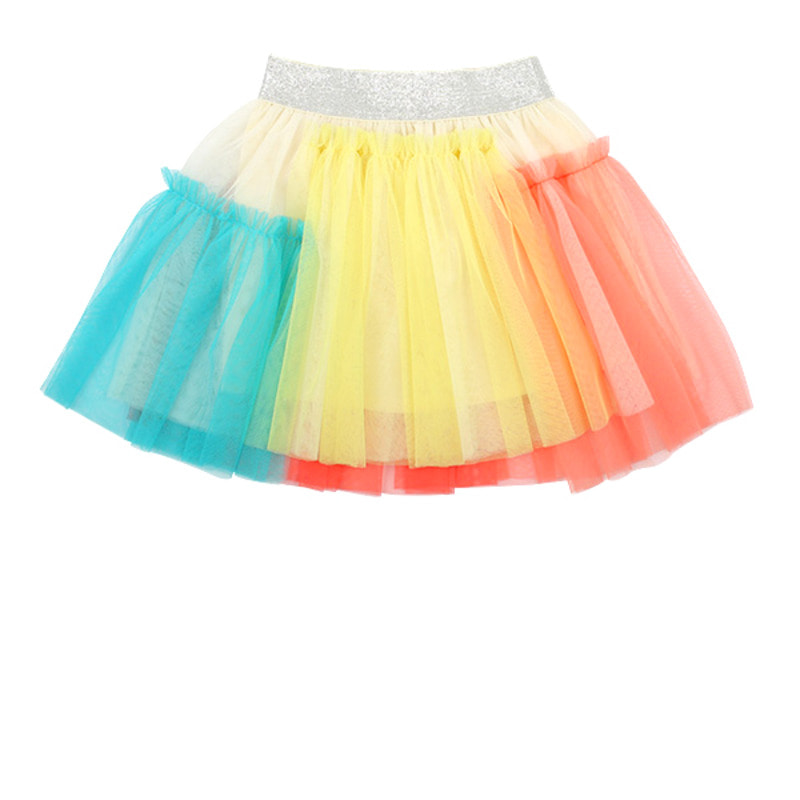 Candy color tutu skirt